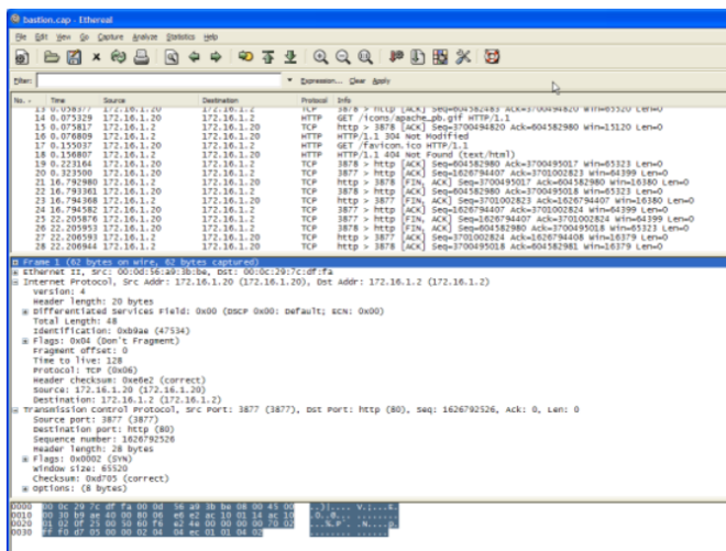 Capturing Traffic on the PIX - The copied pcap file