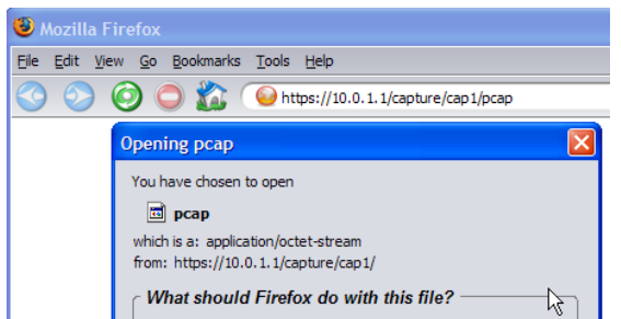 Capturing Traffic on the PIX - Downloading the pcap