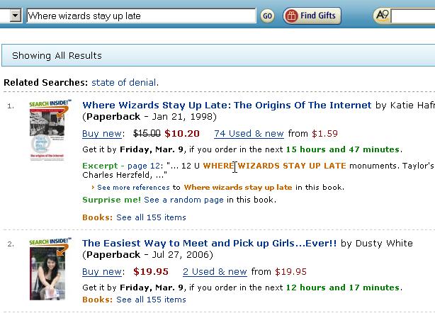 Amazon.com Suchergebnis