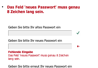 Passworte bei e-Plus