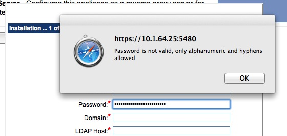 Zimbra Password fail